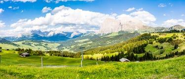 Alpi di panorama della montagna Fotografia Stock