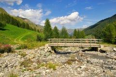 Alpi di Samnaun Fotografie Stock