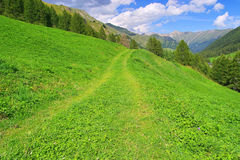 Alpi di Samnaun Fotografia Stock Libera da Diritti