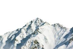 Alpi di Shinhotaka Giappone isolate su fondo bianco Fotografie Stock Libere da Diritti