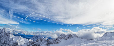 Alpi di Snowscape Fotografie Stock