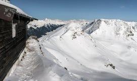 Alpi di Snowy Fotografie Stock Libere da Diritti