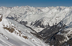 Alpi di Snowy Fotografie Stock