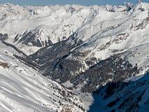 Alpi di Snowy Fotografia Stock