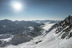 Alpi di Snowy Fotografia Stock Libera da Diritti