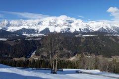 Alpi di Snowy - Dachstein, Austria Immagini Stock