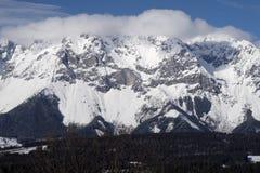 Alpi di Snowy - Dachstein, Austria Immagini Stock Libere da Diritti
