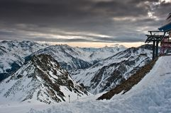 Alpi di Soelden Immagine Stock Libera da Diritti
