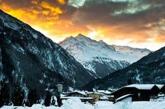 Alpi di Soelden Immagini Stock Libere da Diritti
