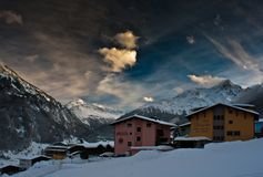Alpi di Soelden Fotografia Stock Libera da Diritti