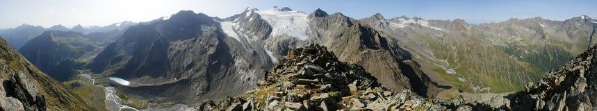 Alpi di Stubai dal grande Troegler Immagine Stock
