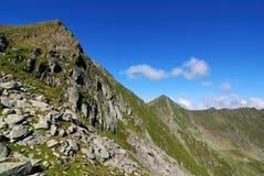 Alpi di Transylvanian in Romania, cresta carpatica Immagine Stock Libera da Diritti