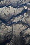 Alpi di vista aerea Fotografia Stock
