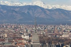 Alpi di vista di Antonelliana della talpa immagine stock