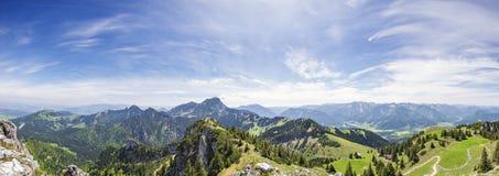 Alpi di vista panoramica in Baviera Fotografia Stock
