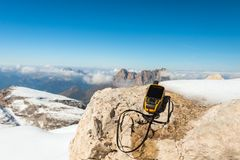 Alpi disponibile delle dolomia del navigatore di GPS Immagini Stock