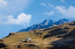 Alpi e collina svizzere della vista del Cervino Fotografia Stock
