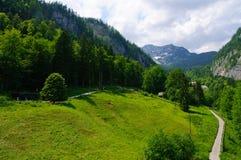 Alpi e il Salzbergwerk in Hallstatt, Austria Fotografie Stock Libere da Diritti