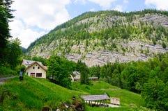 Alpi e il Salzbergwerk in Hallstatt, Austria Fotografia Stock