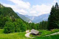 Alpi e il Salzbergwerk in Hallstatt, Austria Immagini Stock