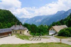 Alpi e il Salzbergwerk in Hallstatt, Austria Fotografia Stock Libera da Diritti