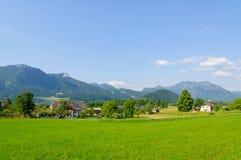 Alpi e il Wolfgangsee in Austria Fotografia Stock Libera da Diritti