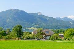 Alpi e il Wolfgangsee in Austria Fotografia Stock