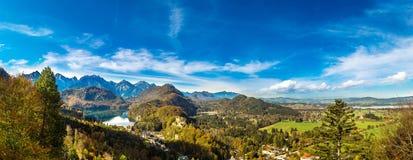 Alpi e laghi in Germania Fotografie Stock Libere da Diritti