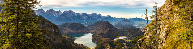 Alpi e laghi in Germania Fotografia Stock Libera da Diritti