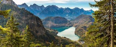 Alpi e laghi in Germania Immagine Stock Libera da Diritti