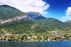 Alpi e lago Como Fotografie Stock
