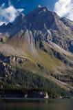 Alpi e lago svizzeri Sils - Engadin Svizzera Fotografia Stock Libera da Diritti
