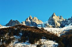 Alpi e paesaggio svizzeri di orizzonte Immagine Stock Libera da Diritti
