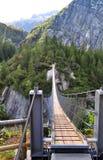 Alpi e ponte Fotografia Stock Libera da Diritti