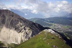 Alpi e Seefeld Fotografia Stock Libera da Diritti