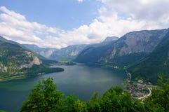 Alpi ed il lago Hallstatt, Austria Fotografia Stock Libera da Diritti