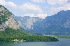 Alpi ed il lago Hallstatt, Austria Fotografia Stock
