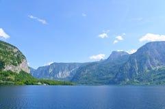 Alpi ed il lago Hallstatt, Austria Fotografie Stock