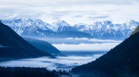 Alpi europee Immagine Stock