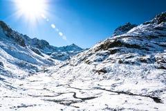 Alpi europee Fotografia Stock