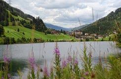 Alpi europee intorno al villaggio Gerlos in valle Austria di Zillertal Immagine Stock Libera da Diritti