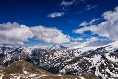 Alpi europee panoramiche Fotografia Stock