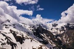 Alpi europee panoramiche Fotografie Stock