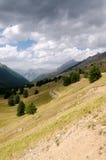 Alpi fra l'Italia e la Francia Fotografia Stock Libera da Diritti