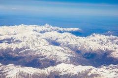 Alpi fra la Francia, l'Italia e la Svizzera Fotografia Stock