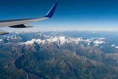 Alpi fra la Svizzera e l'Italia Fotografie Stock Libere da Diritti