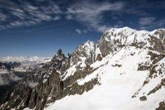 Alpi francese-italiano Immagini Stock