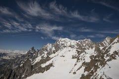 Alpi francese-italiano Fotografie Stock