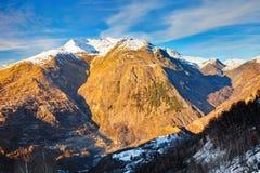 Alpi francesi Fotografie Stock Libere da Diritti
