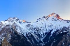 Alpi francesi al tramonto Immagini Stock Libere da Diritti